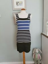 TOPSHOP VINTAGE LOOK STRIPED BODY CON DRESS UK 12 70'S/80'S/WIGGLE/PIN UP/MINI