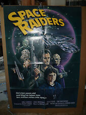 SPACE RAIDERS, orig 1-sht / movie poster (Vince Edwards, Tom Christopher)