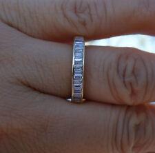 1ct H/VS-SI2 Baguette diamond wedding anniversary band 14k YG sz 6 3.5mm