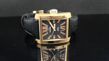 TW Steel Men's CE3010 CEO Goliath Rose Gold Bezel Black Leather Band Watch $449
