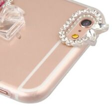 Apple iPhone 8 6s 7 Plus Bling Hybrid Quicksand Liquid Glitter Rubber Case Cover