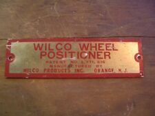 Vintage WILCO * WHEEL ALIGNMENT POSITIONER w/Wood Tool Box &  MANUAL 1935-1940