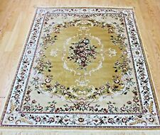 Gold Silk Like Traditional Persian Oriental Design Rug Machin Washable NOW 20%OF