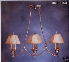 Kichler 3 Light Antique Brass Chandelier/Island