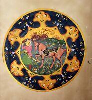 Persian Painting With Indo Persian Border Handmade Miniature Artwork