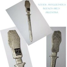 VERY RARE old CB- 62 LA REINA RADIO ? CHILE LETTER OPENER OLD MICROPHONE