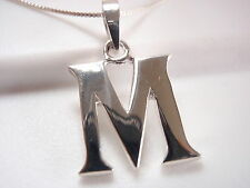 "The Letter ""M"" Necklace 925 Sterling Silver Corona Sun Jewelry m"