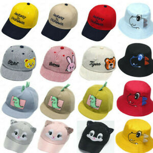 Child Baby Boy Girl Hat Visor Soft Cotton Sunhat Eave Baseball Cap Sun Hat Beret
