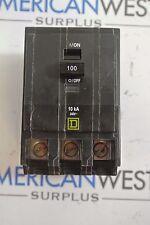 QOB3100 Square D QOB 3 pole 100 amp 240 volt bolt on breaker *broken clips*