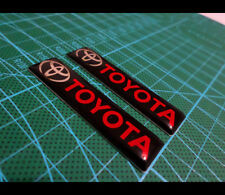 2 Pics small EMBLEM Car Badge Toyota Supra Celica TRD Land Cruiser klugar Pardo