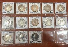1969- Washington Quarters PROOF 13 Coins - Solid Date Lot
