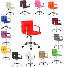 PU Faux Leather Computer Office Desk Swivel Studio Salon Barber Wheels Chair