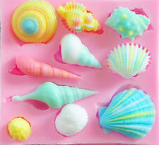 Seashell Assortment 10 Cavity Silicone Mold for Candy, Fondant, Crafts