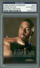 Cavs Andre Miller Authentic Signed Card 1999 Skybox Dominion RC #207 PSA Slabbed
