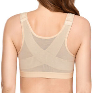Women's Full Coverage Front Closure Bra Wire Free Back Support Posture Plus Size