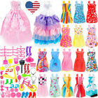 73Pcs Doll Wedding Gowns Party Outfit Shoes and Accessories Set for 11.5in Dolls