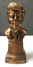 Vtg 1964 B.M.P. John F Kennedy JFK Statue Sculpture Bust Paper Weight Bookend
