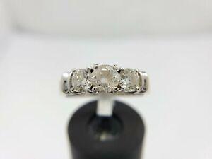 Vintage 14k White Gold Round Cognac Brown Diamond 1 CT Ring