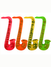 Inflatable Saxophone 75cm Neon Colours Balloon Party Music Instrument Novelty