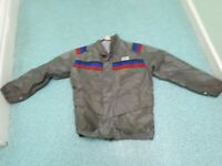 Frank Thomas Medium Mens  Grey Blue & Red Textile Motorbike Jacket