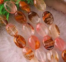 "NEW 13X18mm Watermelon Tourmaline Gemstones Oval loose Beads 15"""