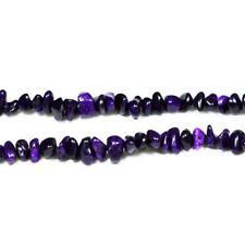 Magnesite Chip Beads 6-12mm Dark Purple 70+ Pcs Handcut Gemstones DIY Jewellery