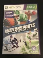 Motionsports (Microsoft Xbox 360 Kinect, 2010) Game Disc Case Tested