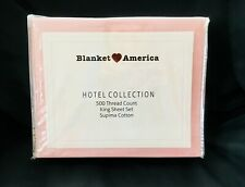 Hotel Collection 4 Piece Ultra Soft Bed King Sheet Set - Blush