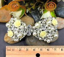 Sparkling Silver Tone Flower Rhinestone bowtie Hair Clip Barrette ha38 4