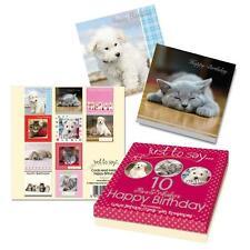 10 X enfants adulte joyeux anniversaire carte de vœux Animaux Domestiques