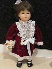 """Gotz 21"""" Brunette Blue Eyed Doll Signed Marianne Gotz w/Box Mint American Girl"""