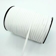 20 Yards SOFT ELASTIC 1/4 Inch Band for Sewing Face Mask White Flat Knit