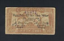 Japan - Philippines Cagayan 50 Centavos 1942 Emergency Note