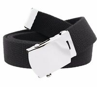 Girls School Uniform Silver Slider Heart Belt Buckle with Canvas Web Belt