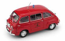 FIAT 600 MULTIPLA MODELLINO POMPIERI 1960 1:43 BRUMM SCALA
