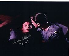 LESLIE NIELSEN & WARREN STEVENS SIGNED FORBIDDEN PLANET 8x10 MOVIE PHOTO w/ COA