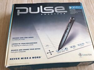 "Livescribe Pulse Digital SmartPen  2GB USB ""Never Miss A Word""!"