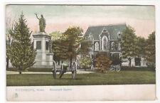 Monument Square Fitchburg Massachusetts 1907c Tuck postcard