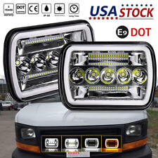 "7x6"" LED Headlights Hi-Lo Amber DRL For Chevy Express Cargo Van 1500 2500 3500"