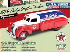 "1939 DODGE AIRFLOW TANKER ""TEXACO"" (2015) SERIES #1 1/38 AUTOWORLD CP7158"