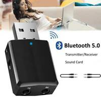 3 IN 1 USB Bluetooth5.0 Adapter Wireless Dongle Music Audio Receiver Transmitter