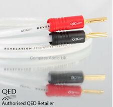 QED REVELATION Signature Speaker Cable 2 x 2m AIRLOC Forte ABS Plugs Terminated