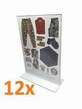 12x A4 Perspex Double Sided Menu/Sign Holder