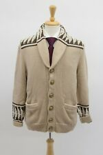 NWT$1545 Brunello Cucinelli Men Chunky Knit Cardigan W/Logo Buttons 50/40US A196