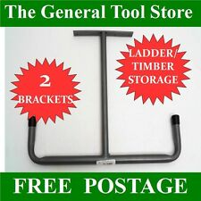 STABLE TACK ROOM OVERHEAD STORAGE RACK FOR WHIPS BRIDLES ETC PACK OF 2