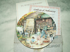 ROYAL DOULTON COLLECTORS PLATE 'THE WHEELWRIGHT' BRADEX - BOXED