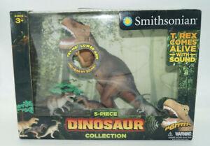 Smithsonian T-REX Action Figure 5-Piece Dinosaur Collection
