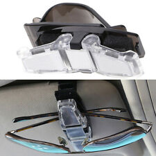 Car Vehicle Sun Visor Double Sunglasses Eye Glasses Card Pen Holder Clip Durable