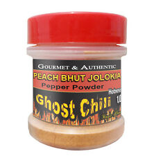 Bhut Jolokia Peach Powder 1/2oz Spice Jar | Peach ghost pepper