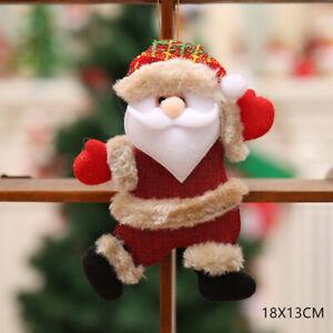 New Year 2021 Cute Santa Claus Dolls Christmas Tree Decoration Home Xmas Kids